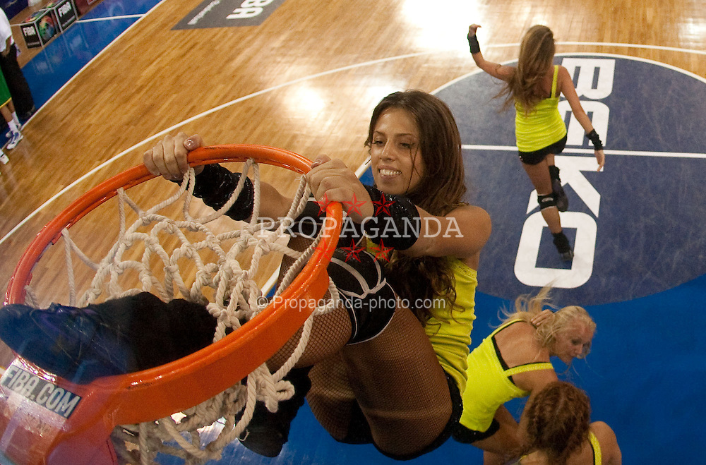 30.08.2010, Abdi Ipekci Arena, Istanbul, TUR, 2010 FIBA World Championship, USA vs Brasil, im Bild .Cheerleaders of CSKA of Russia during the Preliminary Round - Group B basketball match. EXPA Pictures © 2010, PhotoCredit: EXPA/ Sportida/ Vid Ponikvar *** ATTENTION *** SLOVENIA OUT!