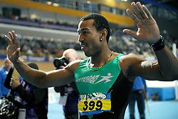 07-02-2010 ATLETIEK: NK INDOOR: APELDOORN<br /> Nederlands kampioen Brian Mariano 60 m sprint<br /> ©2010-WWW.FOTOHOOGENDOORN.NL