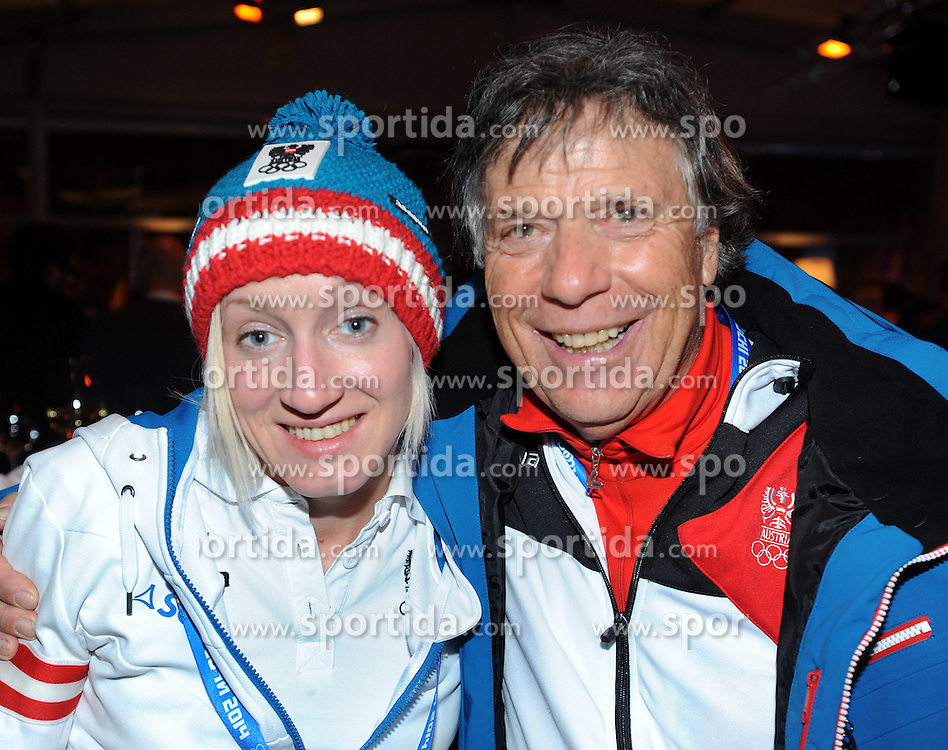 13.02.2014, Austria Tirol House, Krasnaya Polyana, RUS, Sochi, 2014, im Bild IRASCHKO STOLZ, PETER SCHRÖCKSNADEL // IRASCHKO STOLZ, PETER SCHRÖCKSNADEL during the Olympic Winter Games Sochi 2014 at the Austria Tirol House in Krasnaya Polyana, Russia on 2014/02/14. EXPA Pictures © 2014, PhotoCredit: EXPA/ Erich Spiess