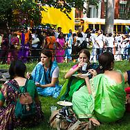 New York  , Hare krishna  parade in washington square .  United states