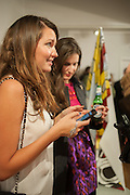 OLIA SARDAROVA; ALINA JAKUBOVA;  Pakpoom Silaphan 'Empire State' Opening Reception, Scream. Eastcastle St. London. 21 February 2013