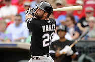 SURPRISE, AZ - MARCH 06:  Jordan Danks #20 of the Chicago White Sox bats against the Kansas City Royals on March 6, 2014 at The Ballpark in Surprise in Surprise, Arizona. (Photo by Ron Vesely)   Subject: Jordan Danks