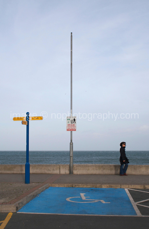 Disabled parking space at Bray seafront in Wicklow Ireland