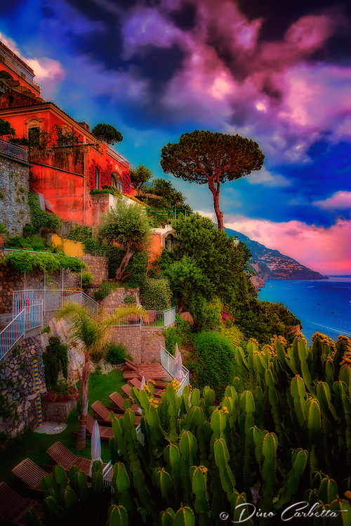 """Sunset view from the Hotel California Positano""…<br />