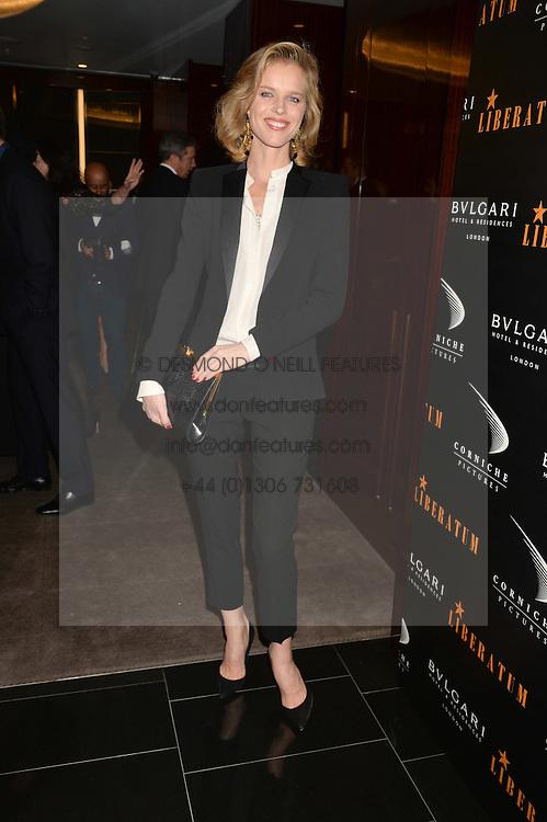 EVA HERZIGOVA at a dinner hosted by Liberatum to honour Francis Ford Coppola held at the Bulgari Hotel & Residences, 171 Knightsbridge, London on 17th November 2014.