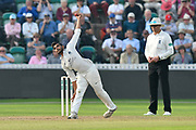 Ravi Patel of Middlesex bowling during the Specsavers County Champ Div 1 match between Somerset County Cricket Club and Middlesex County Cricket Club at the Cooper Associates County Ground, Taunton, United Kingdom on 26 September 2017. Photo by Graham Hunt.