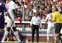 PSG manager Antoine Kombouare watches from the touchline. <br /> Toulouse v Paris Saint Germain (1-3), Ligue 1, Stade Municipal, Toulouse, France, 28th August 2011.