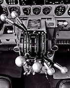 Throttle assembly of a fully restored Lockheed 12A Electra Junior.
