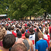 A World Cup public viewing was held on June 12, 2010 in Dupont Circle. It was the first  event of its kind in Washington, DC. Several thousand fans watched the three first round matches: Greece v South Korea, Argentina v Nigeria & England v USA. The big turnout created an electric atmosphere, attracted global media attention, and boosted the game's profile in the city.
