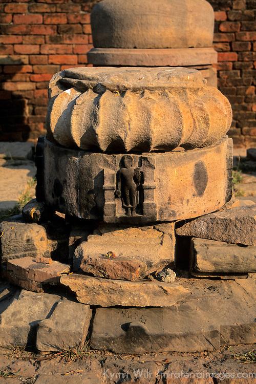Asia, India, Sarnath. Archeological ruins at Sarnath.