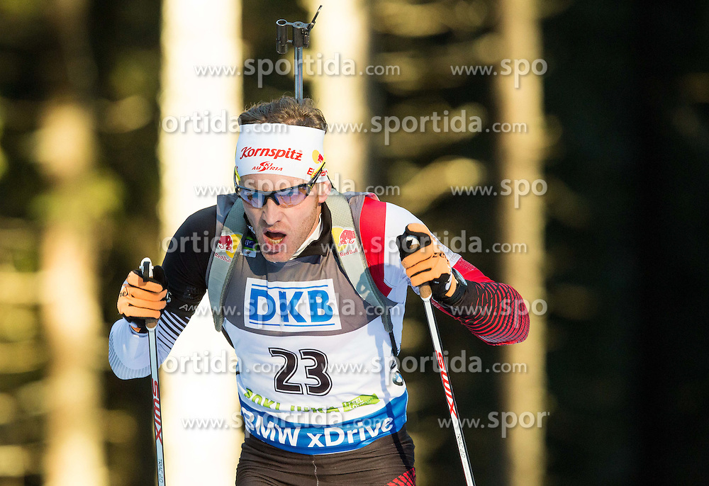 EDER Simon (AUT) competes during Men 10 km Sprint at day 2 of IBU Biathlon World Cup 2014/2015 Pokljuka, on December 19, 2014 in Rudno polje, Pokljuka, Slovenia. Photo by Vid Ponikvar / Sportida