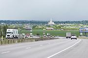Interstate 15 in Payson, Utah.