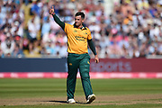Steve Mullaney of Notts Outlaws gives the thumbs up after the wicket of Wayne Parnell during the Vitality T20 Finals Day 2019 match between Notts Outlaws and Worcestershire Rapids at Edgbaston, Birmingham, United Kingdom on 21 September 2019.