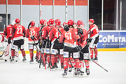 HDD Acroni Jesenice celebrates during  First league between HDD Acroni Jesenice vs HK SZ Olimpia, on April 23, 2019 in Jesenice, Slovenia. Photo by Peter Podobnik / Sportida