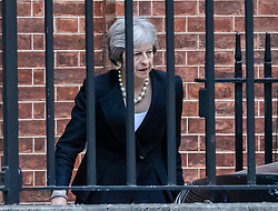 © Licensed to London News Pictures. 19/07/2018. London, UK. Prime Minister Theresa May leaves 10 Downing Street. Photo credit: Rob Pinney/LNP