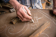 Drawing with chalk in the forge
