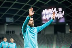 Bostjan Cesar of Slovenia plays his last 5 min minutes in a National team during friendly football match between National teams of Slovenia and Belarus, on March 27, 2018 in SRC Stozice, Ljubljana, Slovenia. Photo by Vid Ponikvar / Sportida