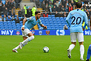 Kyle Walker (2) of Manchester City on the attack during the Premier League match between Cardiff City and Manchester City at the Cardiff City Stadium, Cardiff, Wales on 22 September 2018.