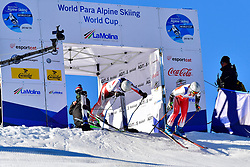 DELEPLACE Hyacinthe Guide: JOURDAN Maxime, B2, FRA, Giant Slalom at the WPAS_2019 Alpine Skiing World Cup, La Molina, Spain