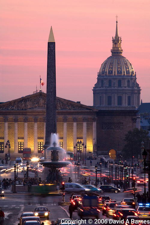 Place de la Concorde, Les Invalides, L'Assemblee Nationale, Paris, France