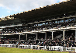 Runners and riders in front of the Grandstand after the Spectra Cyber Security Solutions Clarence House Chase during Festival Trials Day at Cheltenham Racecourse