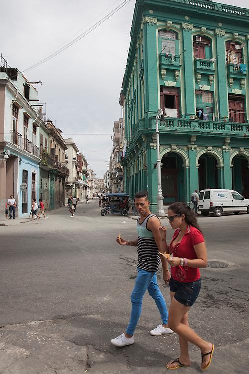 Street scene in Centro Habana, Havana, Cuba.