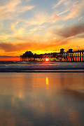 Oceanside Municipal Pier at Sunset