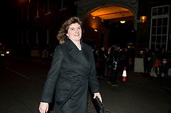 © Licensed to London News Pictures. 08/02/2016. London, UK. NICKY MORGAN leaves The Brewery in London after the annual Conservative Party Black & White Ball, a Conservative Party fundraiser.  Photo credit: Ben Cawthra/LNP