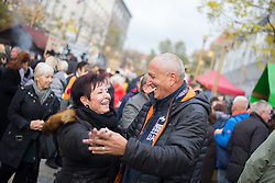 People at Leona Stuklja square during martinovanje, St. Martin's Day Celebration on November 11, 2019 in Maribor, Slovenia. Photo by Milos Vujinovic / Sportida