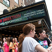 May 26, 2012 - New York, NY :  Fans of pop group 'One Direction' wait outside the Beacon theater in Manhattan on  Saturday afternoon. The group is on the road for their first-ever headlining North American tour in support of their debut album UP ALL NIGHT. CREDIT: Karsten Moran for The New York Times