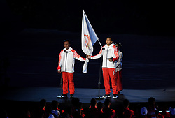 JAKARTA, Aug. 18, 2018  Referee and athletes representatives take an oath at the opening ceremony of the 18th Asian Games in Jakarta, Indonesia, Aug. 18, 2018. (Credit Image: © Wang Yuguo/Xinhua via ZUMA Wire)