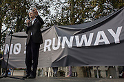 The white middle-classes gathered in Parliament Square to protest against plans for a third runway at Heathrow airport - blighting, they say, thousands of homes in London's aviation hub's flight paths - especially to the west of the capital. Central to the demonstration were both London mayoral candidates: the Conservative Zac Goldsmith and Labour's Sadique Khan (pictured) .