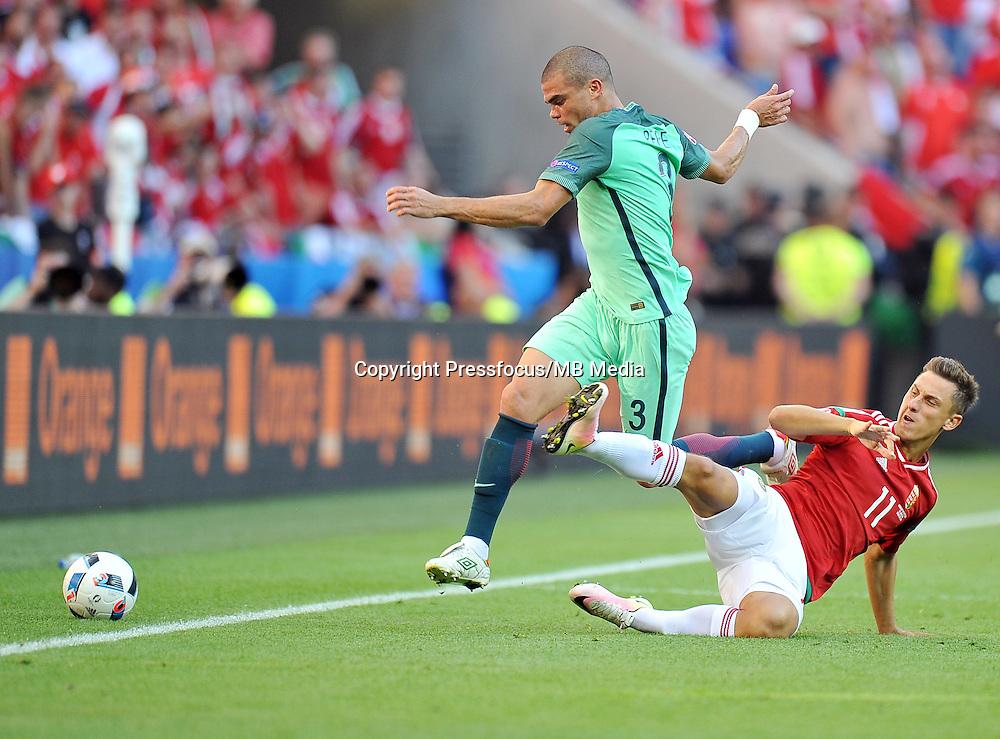 2016.06.22 Lyon<br /> Pilka nozna Euro 2016<br /> mecz grupy F Wegry - Portugalia<br /> N/z Pepe Krisztian Nemeth<br /> Foto Norbert Barczyk / PressFocus<br /> <br /> 2016.06.22 Lyon<br /> Football UEFA Euro 2016 group F game between Hungary and Portugal<br /> Pepe Krisztian Nemeth<br /> Credit: Norbert Barczyk / PressFocus