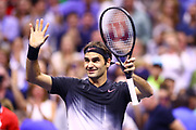 FLUSHING MEADOW, NY - SEPTEMBER 04: ROGER FEDERER (SUI) during day eight match of the 2017 US Open on September 04, 2017 at Billie Jean King National Tennis Center, Flushing Meadow, NY.(Photo by Chaz Niell/Icon Sportswire)