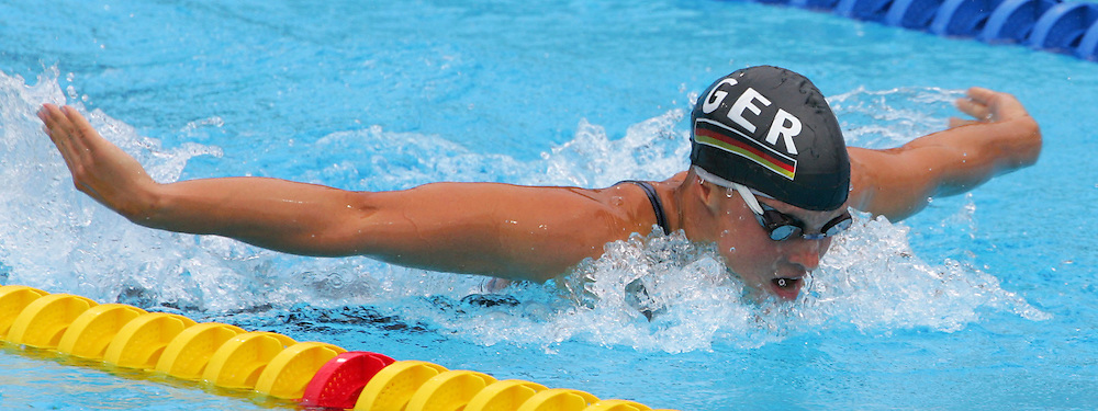 Germany's Annika Mehlhorn swims in the fourth heat of the women's 200m Butterfly at the FINA World Championships in Montreal, Canada Wednesday 27 July, 2005.