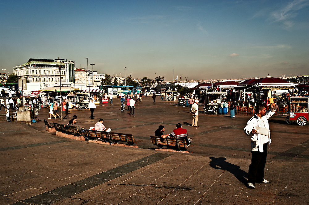 Eminonu docks, Istanbul, Turkey.