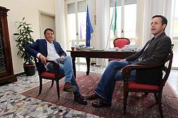 MATTEO RENZI IN VISITA AD ARGENTA (FE).ARGENTA (FE) 19-10-2012.FOTO FILIPPO RUBIN