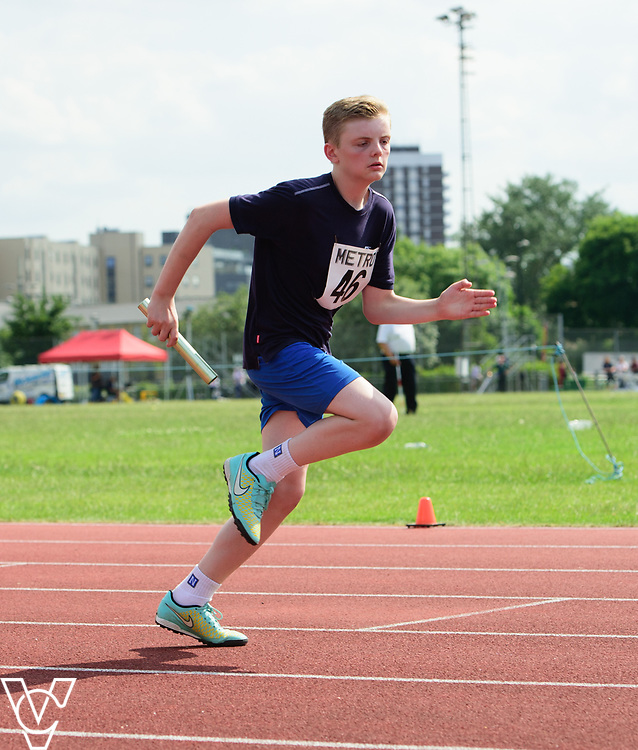 Metro Blind Sport's 2017 Athletics Open held at Mile End Stadium.  4x100m relay. Tom Lancaster<br /> <br /> Picture: Chris Vaughan Photography for Metro Blind Sport<br /> Date: June 17, 2017