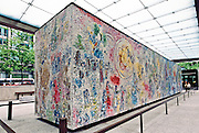 """""""Four Seasons"""" mosaic by Chagall, at First National Plaza, Chicago, Illinois"""