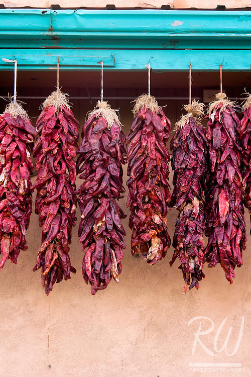 Hanging Red Chilis, Taos, New Mexico