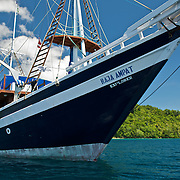 Lean bow of Raja Ampat Explorer