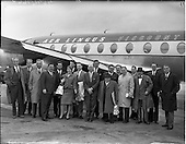 1959 - Inaugural Dublin - Paris - Zurich - Rome flight from Dublin Airport.