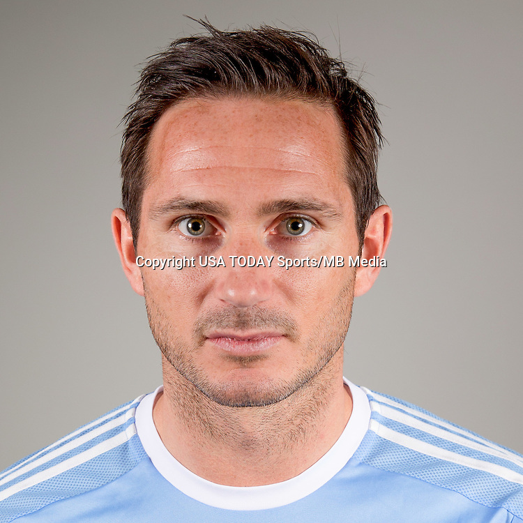 Feb 25, 2016; USA; New York City FC player Frank Lampard poses for a photo. Mandatory Credit: USA TODAY Sports