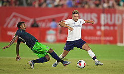 NEW YORK, NEW YORK, USA - Wednesday, July 24, 2019: Liverpool's Alex Oxlade-Chamberlain during a friendly match between Liverpool FC and Sporting Clube de Portugal at the Yankee Stadium on day nine of the club's pre-season tour of America. (Pic by David Rawcliffe/Propaganda)