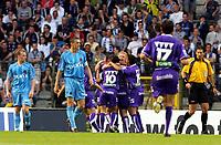 Fotball<br /> Belgia<br /> Foto: PhotoNews/Digitalsport<br /> NORWAY ONLY<br /> <br /> FINALE BEKER VAN BELGIE 2005 / FINALE COUPE DE BELGIQUE 2005 / CLUB BRUGGE - GBA / FC BRUGES - GERMINAL BEERSCHOT / JOIE - VREUGDE / KAREL SNOECKX /