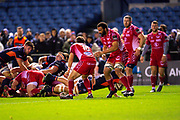 Mike Willemse (#2) of Edinburgh Rugby scores Edinburgh's third try during the Guinness Pro 14 2019_20 match between Edinburgh Rugby and Scarlets at BT Murrayfield Stadium, Edinburgh, Scotland on 26 October 2019.