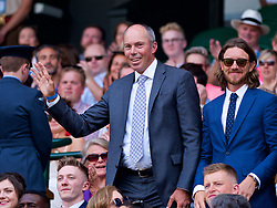 LONDON, ENGLAND - Saturday, July 7, 2018: Golfer Matt Kuchar in the Royal Box before the Gentlemen's Singles 3rd Round match on day six of the Wimbledon Lawn Tennis Championships at the All England Lawn Tennis and Croquet Club. (Pic by Kirsten Holst/Propaganda)
