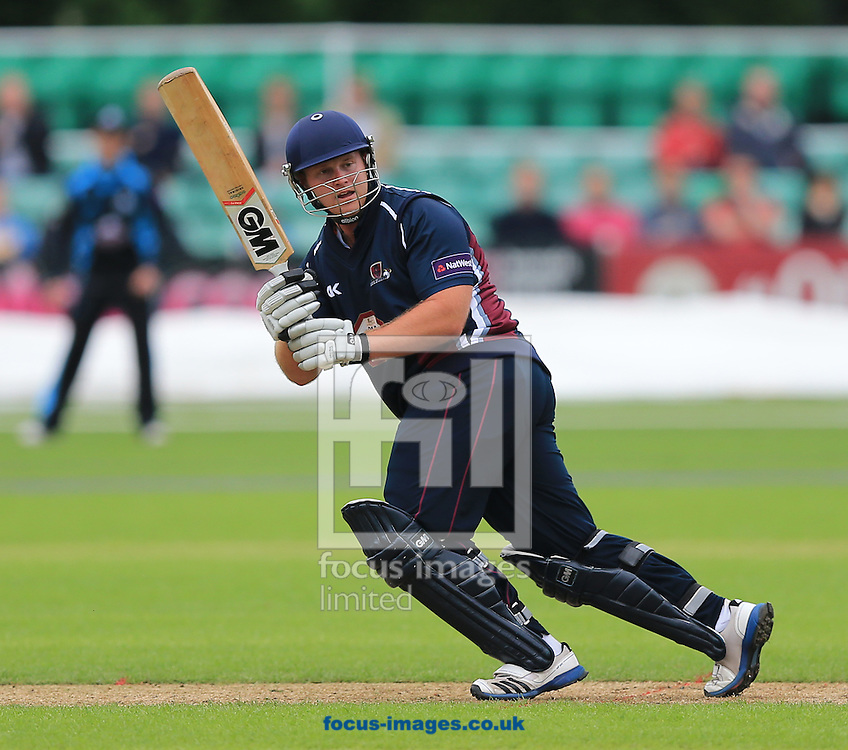 Richard Levi of Northants Steelbacks during the Natwest T20 Blast match at New Road, Worcester<br /> Picture by Michael Whitefoot/Focus Images Ltd 07969 898192<br /> 30/05/2014