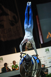 Jacques Ferrari, (FRA), Poivre Vert, Francois Athimon - Individuals Men Compulsory Vaulting - Alltech FEI World Equestrian Games™ 2014 - Normandy, France.<br /> © Hippo Foto Team - Jon Stroud<br /> 02/09/2014