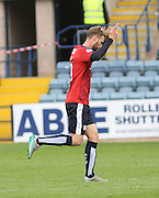 Dundee&rsquo;s Rory Loy celebrates after scoring his side's third goal - Dundee v Ross County - Ladbrokes Premiership at Dens Park<br /> <br />  <br />  - &copy; David Young - www.davidyoungphoto.co.uk - email: davidyoungphoto@gmail.com